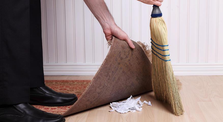 Óbitos COVID-19: O lixo esconde-se de baixo do tapete